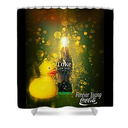 Coca-cola Forever Young 5 Shower Curtain
