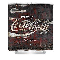 Coca Cola Grunge Sign Shower Curtain