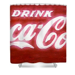 Coca Cola Shower Curtain by Heidi Smith