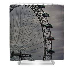 Coca Cola London Eye Shower Curtain by Martin Newman