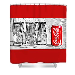 Coca-cola Ready To Drink By Kaye Menner Shower Curtain