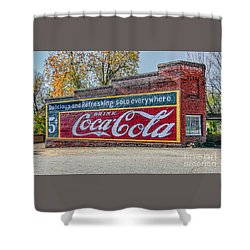 Shower Curtain featuring the photograph Coca-cola Retro by Marion Johnson