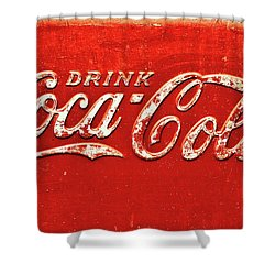 Coca Cola Rustic Shower Curtain by Stephen Anderson