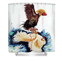 Cock Fighting Shower Curtain