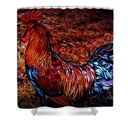 Cock Rooster Shower Curtain