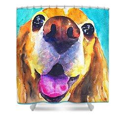 Cocker Spaniel Dog Smile Shower Curtain