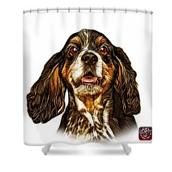 Cocker Spaniel Pop Art - 8249 - Wb Shower Curtain by James Ahn