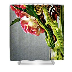 Shower Curtain featuring the photograph Cockscomb Bouquet 5 by Sarah Loft