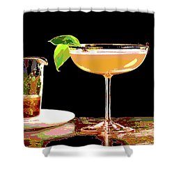 Cocktail And Dreams Shower Curtain by Charles Shoup