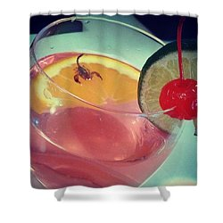 Cocktail With A Bite Shower Curtain by Sacha Kinser
