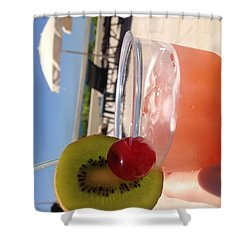 Cocktail Shower Curtain by Brooke Hooker