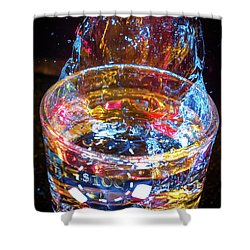 Cocktail Chip Shower Curtain by Mark Dunton