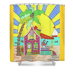 Cocktail Hour Shower Curtain by Rosemary Aubut