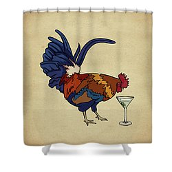 Cocktails Shower Curtain by Meg Shearer