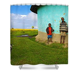 Cocky Shower Curtain by Skip Hunt