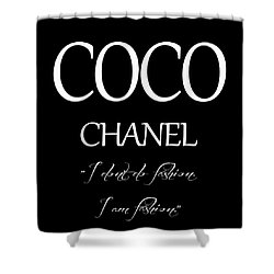 Coco Chanel Quote Shower Curtain