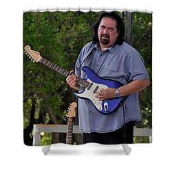 Coco Montoya And His Ocean Blue Fender American Standard Stratoc Shower Curtain