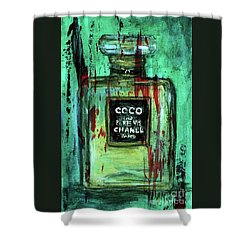 Shower Curtain featuring the painting Coco Potion by P J Lewis