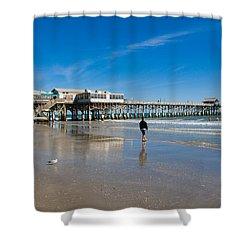 Cocoa Beach Florida Shower Curtain by Allan  Hughes