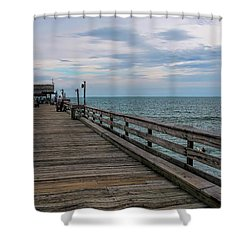 Cocoa Beach  Shower Curtain by Pat Cook