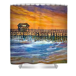 Cocoa Beach Pier Shower Curtain