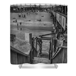 Cocoa Beach Pier Shower Curtain by Pat Cook