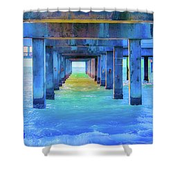 Cocoa Pier Shower Curtain