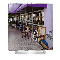 Cocoa Village In Florida Shower Curtain by Allan  Hughes
