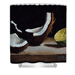 Coconut And Lime Shower Curtain