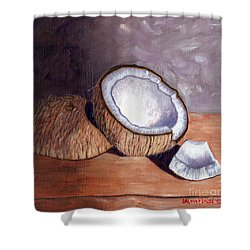 Coconut Anyone? Shower Curtain