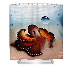 Coconut Octopus Shower Curtain by Dianna Lewis