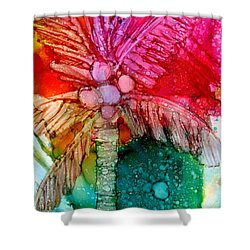 Coconut Palm Tree Shower Curtain by Marionette Taboniar