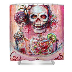 Shower Curtain featuring the painting Coctel De Camarones by Heather Calderon