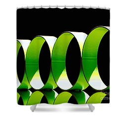 Code Shower Curtain by Cathy Dee Janes