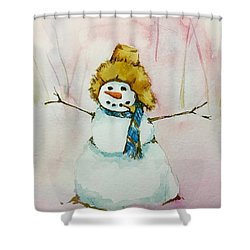 Cody's First Frosty Shower Curtain by Lynn Babineau