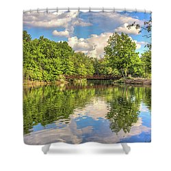 Coe Lake Shower Curtain by Brent Durken