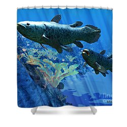 Coelacanth Fish Shower Curtain by Corey Ford