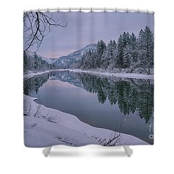 Coeur D Alene River Reflections Shower Curtain