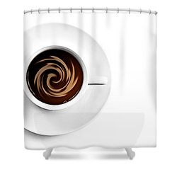 Coffee And Cream Shower Curtain by Gert Lavsen