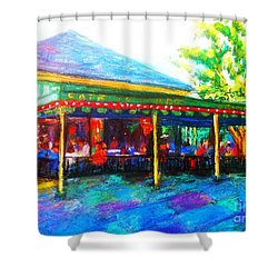 Coffee Any Time Shower Curtain