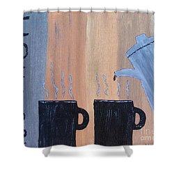 Coffee Art Shower Curtain