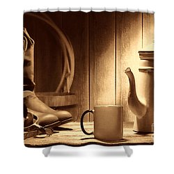 Coffee At The Ranch Shower Curtain