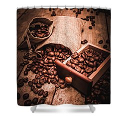 Coffee Bean Art Shower Curtain