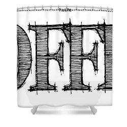 Coffee Fill Line Mug 2 Shower Curtain by Robert J Sadler