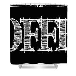 Coffee Fill Line Mug Shower Curtain by Robert J Sadler