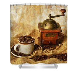 Coffee Grinder Shower Curtain by Ian Mitchell
