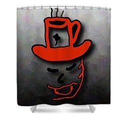 Coffee Hat Man Shower Curtain