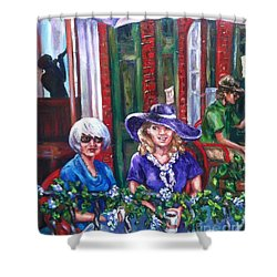 Coffee In Pirates' Alley Shower Curtain