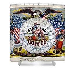 Coffee Label, C1862 Shower Curtain by Granger