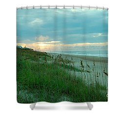 Coffee On The Gazebo Shower Curtain by Mim White